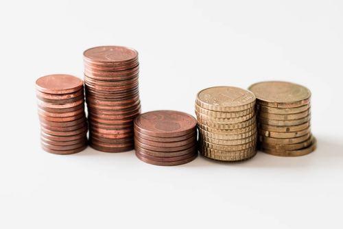 コインがたくさん