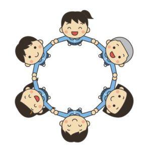 子供たちが輪になって円になっている