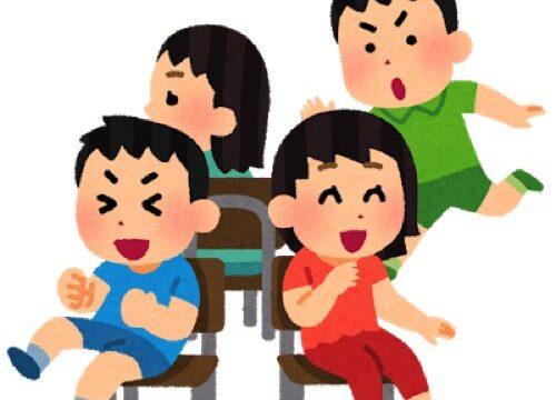 椅子取りゲームをしている子供達